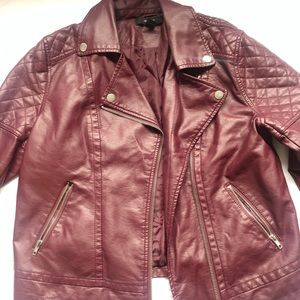 Forever 21 faux leather jacket, size Large